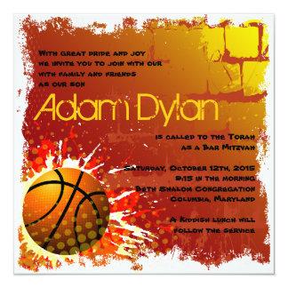 Basketball Bar Mitzvah Invitation