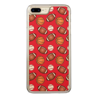 Basketball, Baseball and Football Love Carved iPhone 7 Plus Case