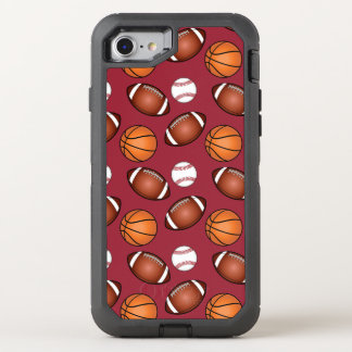Basketball, Baseball and Football Love OtterBox Defender iPhone 7 Case