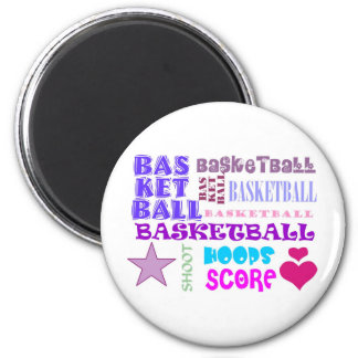 BASKETBALL-BASKETBALL-BASKETBALL-10x10 6 Cm Round Magnet