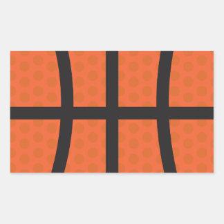 Basketball - Basketball Rectangle Sticker