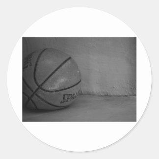 Basketball Beauty Round Stickers