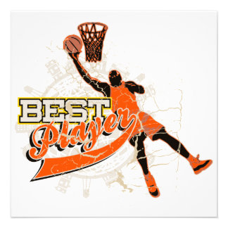 Basketball Best Player Orange T-shirts and Gifts Personalized Announcements