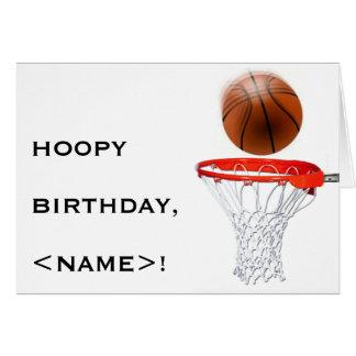 BASKETBALL BIRTHDAY GREETING GREETING CARD