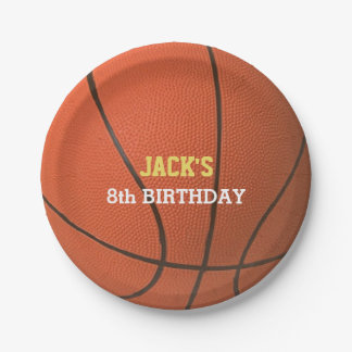 Basketball Birthday Paper Plate