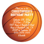 Basketball Birthday Party 13 Cm X 13 Cm Square Invitation Card