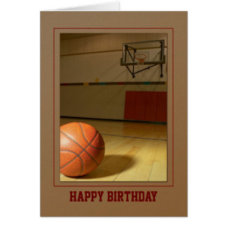 Basketball- Birthday Thank You Any Use Card