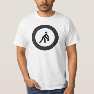 BASKETBALL | black and white icon in roundel T-Shirt