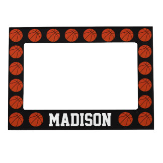 Basketball Black Custom Magnetic Picture Frame