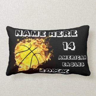 Basketball black Pillow with Player's Name