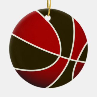 Basketball - Black/Red Christmas Ornament