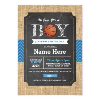 BasketBall Blue Boy Baby Shower Sports Invite