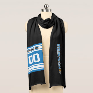 Basketball  Blue Letter Personalize Scarf