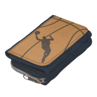 Basketball Boy Denim Wallet with Coin Purse