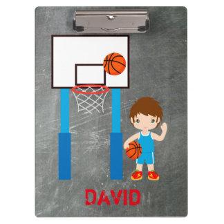 Basketball Boy Jersey Net Ball Clipboard