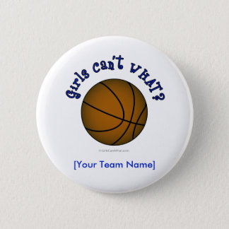 Basketball - Brown/Blue 6 Cm Round Badge