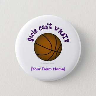 Basketball - Brown/Purple 6 Cm Round Badge