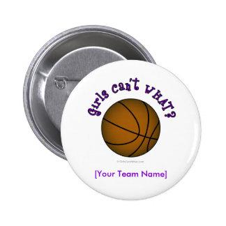 Basketball - Brown/Purple 6 Cm Round Badge