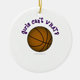 Basketball - Brown/Purple Christmas Ornament