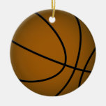 Basketball - Brown/Sky Blue Ornament