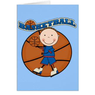 BASKETBALL Brunette Boy Tshirts and Gifts Greeting Card