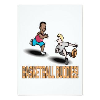 "Basketball Buddies 5"" X 7"" Invitation Card"