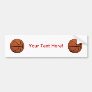 Basketball: Car Bumper Sticker