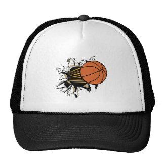 Basketball Burst Hats