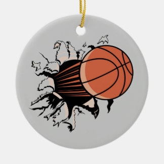 Basketball Burst T-shirts and Gifts Christmas Ornament