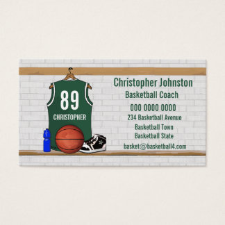 Jersey business cards business card printing zazzle uk basketball business cards green reheart Image collections