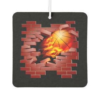 Basketball busting through brick wall car air freshener