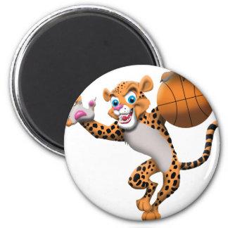 basketball cat refrigerator magnet