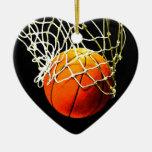 Basketball Ceramic Heart Decoration