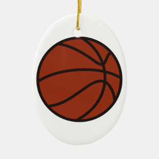 Basketball Ceramic Oval Decoration