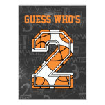 Basketball Chalkboard 2nd Birthday Party Personalised Invitations