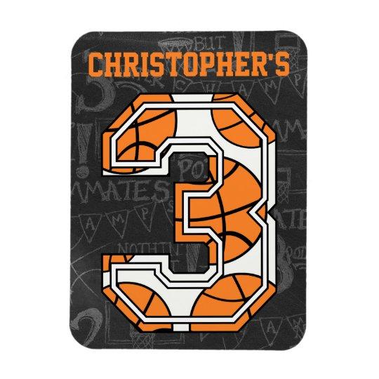 Basketball Chalkboard 3rd Birthday Magnet