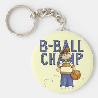 Basketball Champ Tshirts and Gifts Basic Round Button Key Ring