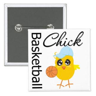 Basketball Chick 15 Cm Square Badge