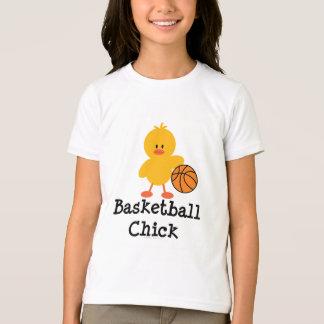 Basketball Chick Girls Ringer T shirt