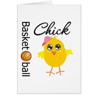 Basketball Chick Greeting Card