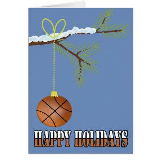 Basketball Christmas Bauble Card