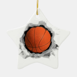 basketball Christmas Ceramic Star Decoration