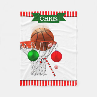 basketball Christmas Fleece Blanket