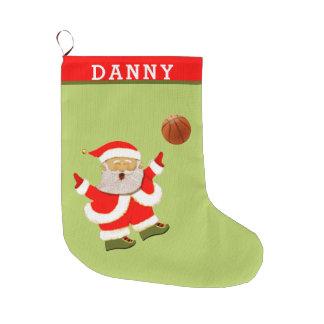 basketball Christmas Large Christmas Stocking