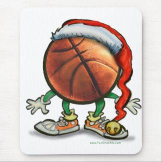 Basketball Christmas Mouse Pad