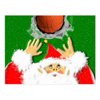 BASKETBALL CHRISTMAS POSTCARD