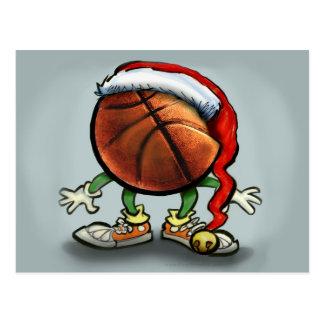 Basketball Christmas Postcard