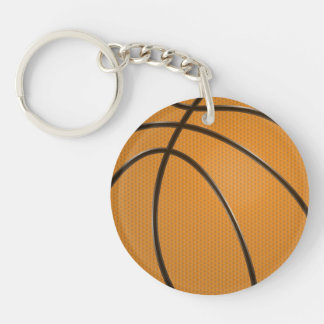 Basketball Circular Key chain