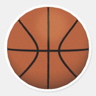 Basketball: Classic Round Sticker