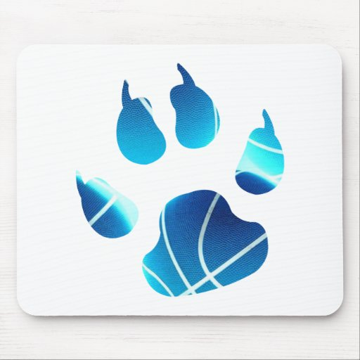Basketball Claw In Neon Blue Color Mouse Pads
